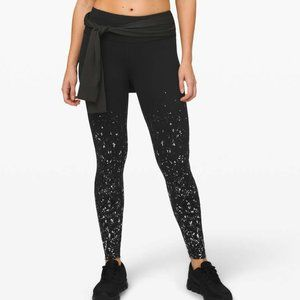 "NWT Lululemon Speed Wunder Tight 28"" Speckle Shine"